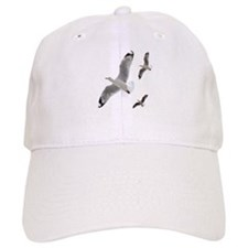 3 Gulls in Flight copy Baseball Baseball Cap