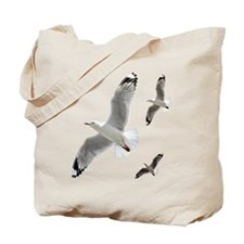 3 Gulls in Flight copy Tote Bag