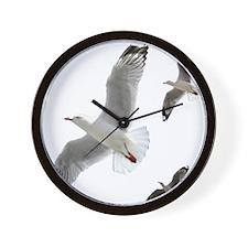 3 Gulls in Flight copy Wall Clock
