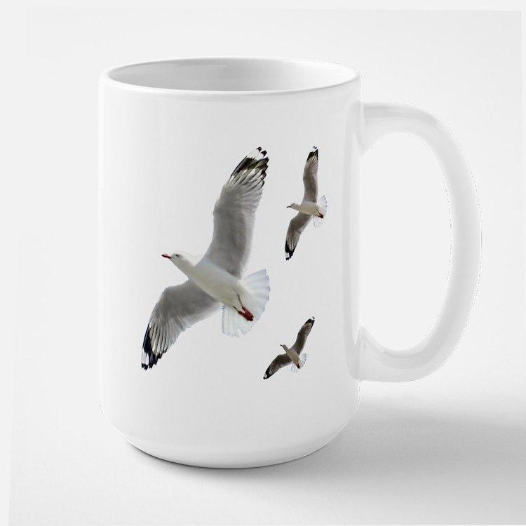 3 Gulls in Flight copy Mugs