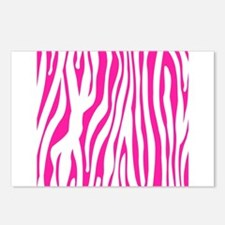 Hot Pink Zebra stripes Postcards (Package of 8)