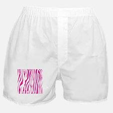Hot Pink Zebra stripes Boxer Shorts