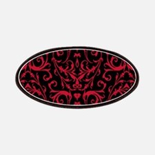 Black And Red Damask Pattern Patches