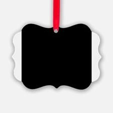 Black solid color Ornament