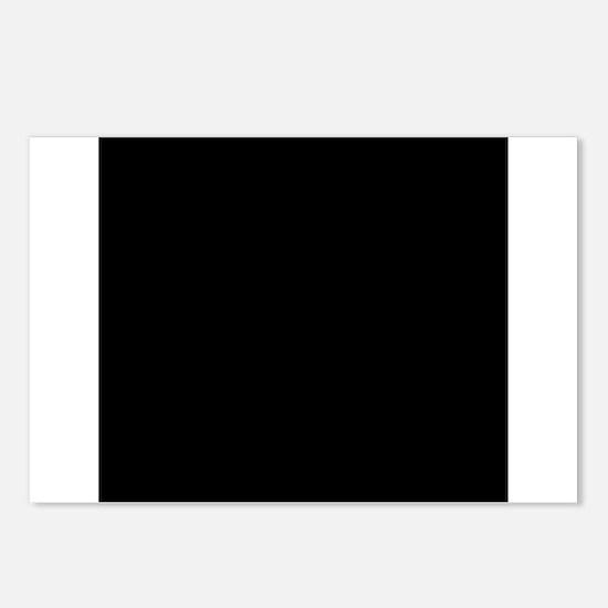 Black solid color Postcards (Package of 8)