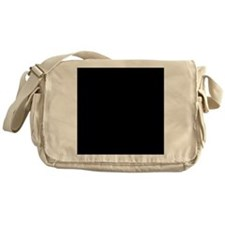 Black solid color Messenger Bag