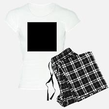 Black solid color pajamas