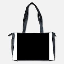 Black solid color Diaper Bag