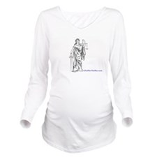 Lady Justce Long Sleeve Maternity T-Shirt