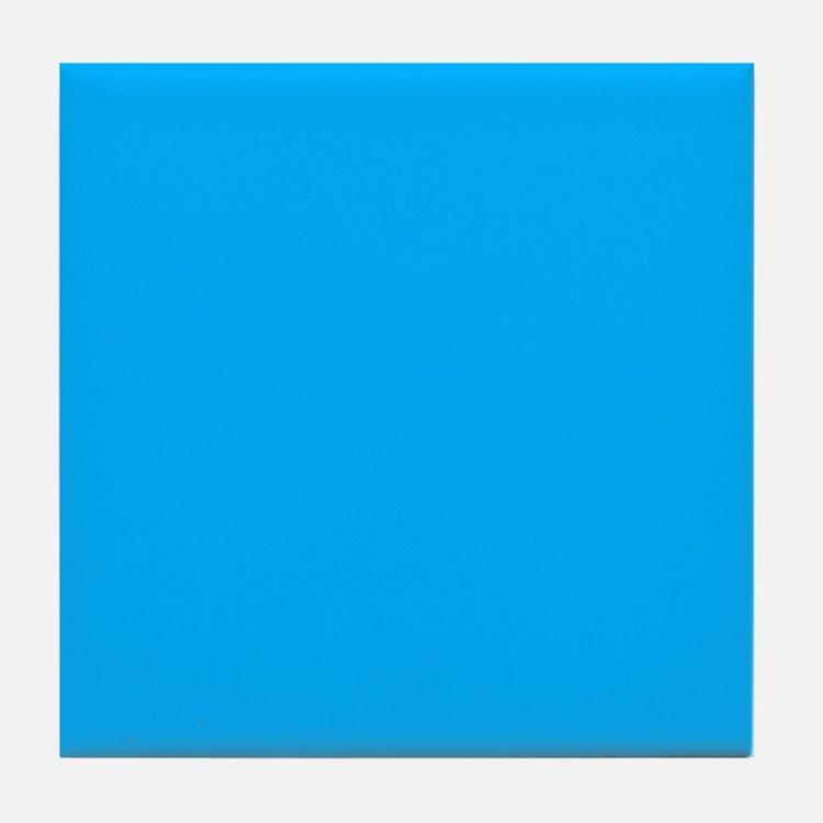 Sky Blue Solid Color Tile Coaster