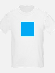 Sky Blue Solid Color T-Shirt
