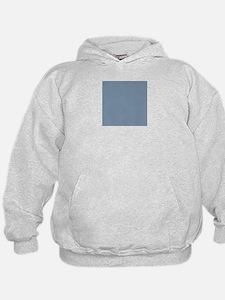 Steel Blue Solid Color Hoody