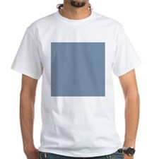 Steel Blue Solid Color T-Shirt