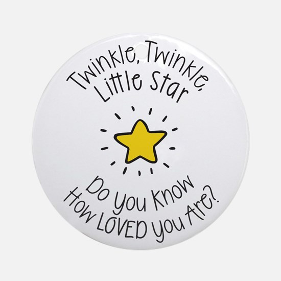 Twinkle, Twinkle Little Star Do Ornament (round)