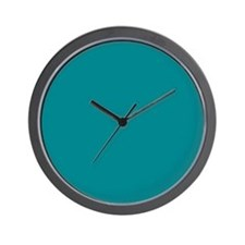 Teal Solid Color Wall Clock