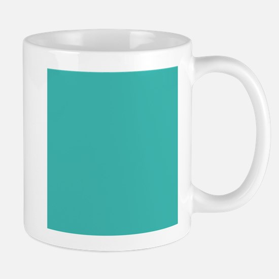 Turquoise Solid Color Mugs