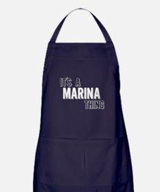 Its A Marina Thing Apron (dark)