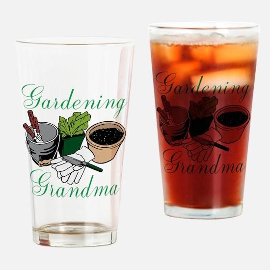 Gardening Grandma Drinking Glass