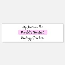 Worlds Greatest Biology Teach Bumper Bumper Bumper Sticker