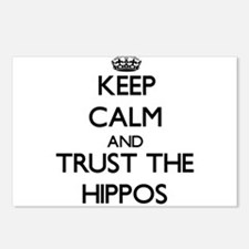 Keep calm and Trust the Hippos Postcards (Package