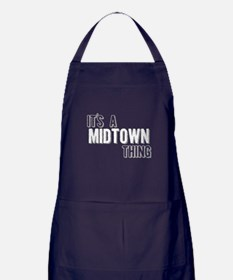 Its A Midtown Thing Apron (dark)