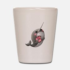 Cute Narwhal with Donut Shot Glass