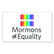 Mormons For Equality Rectangle Decal
