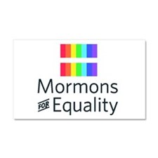 Mormons For Equality Car Magnet 20 X 12
