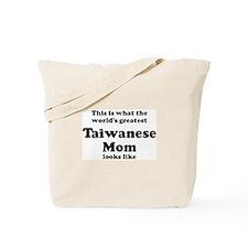 Taiwanese mom Tote Bag