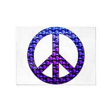Peace Skulls 5'x7'Area Rug