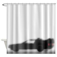 DeLorean Silhouette Shower Curtain