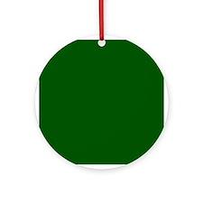Dark green solid color Ornament (Round)