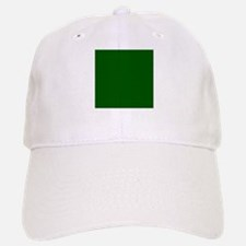 Dark green solid color Baseball Baseball Cap