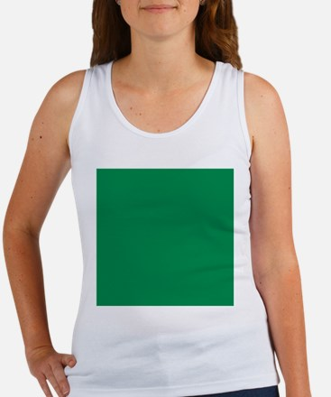 Green solid color Tank Top
