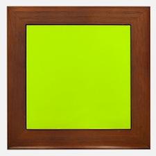 Lime Green solid color Framed Tile