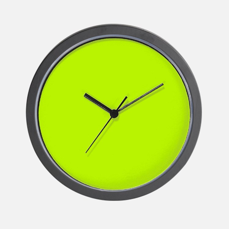 Lime Green solid color Wall Clock