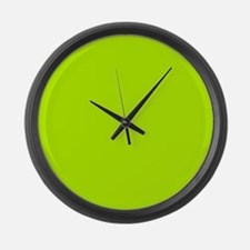 Lime Green solid color Large Wall Clock