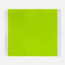 Lime Green solid color Throw Blanket