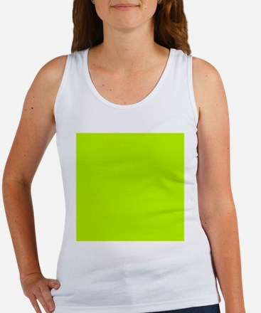 Lime Green solid color Tank Top