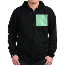 Mint Green solid color Zip Hoody