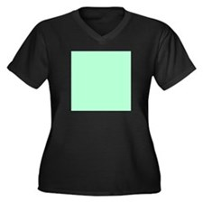Mint Green solid color Plus Size T-Shirt