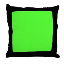 Neon Green solid color Throw Pillow