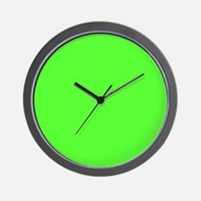 Neon Green solid color Wall Clock