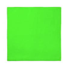 Neon Green solid color Queen Duvet