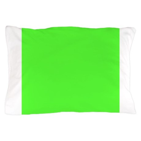 Neon Green Solid Color Pillow Case By Admin CP49789583