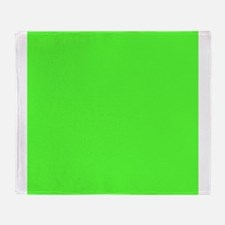 Neon Green solid color Throw Blanket