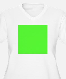 Neon Green solid color Plus Size T-Shirt