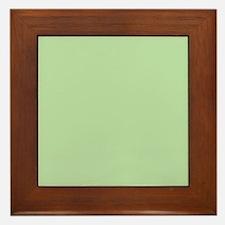 Sage Green solid color Framed Tile