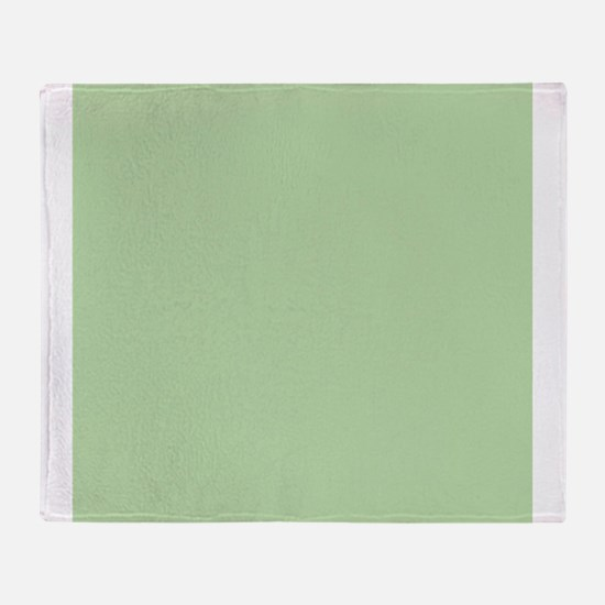 Sage Green solid color Throw Blanket