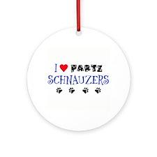 I Love Parti Schnauzers 1.0 Ornament (Round)